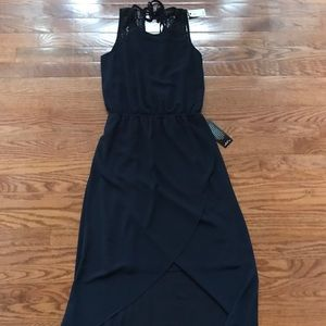 The Limited Navy High Low Dress